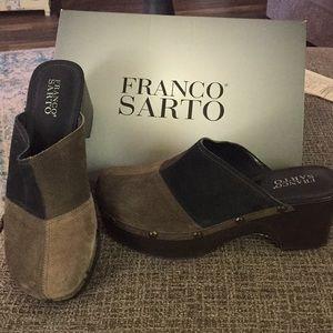 Franco Sarto Suede Clogs
